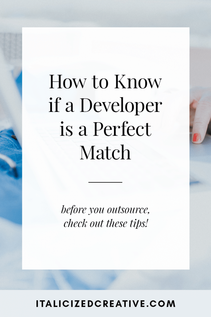 How to Know if a Developer is a Perfect Match