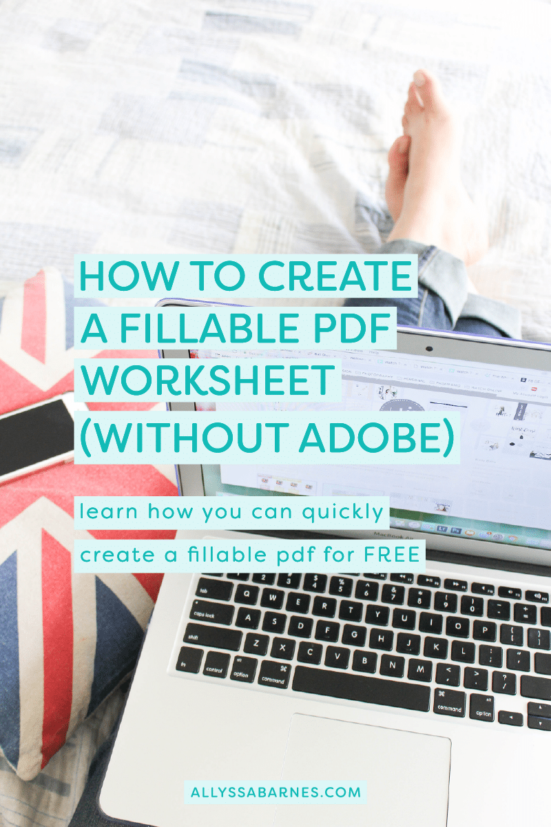 How to Create Fillable PDF Worksheets