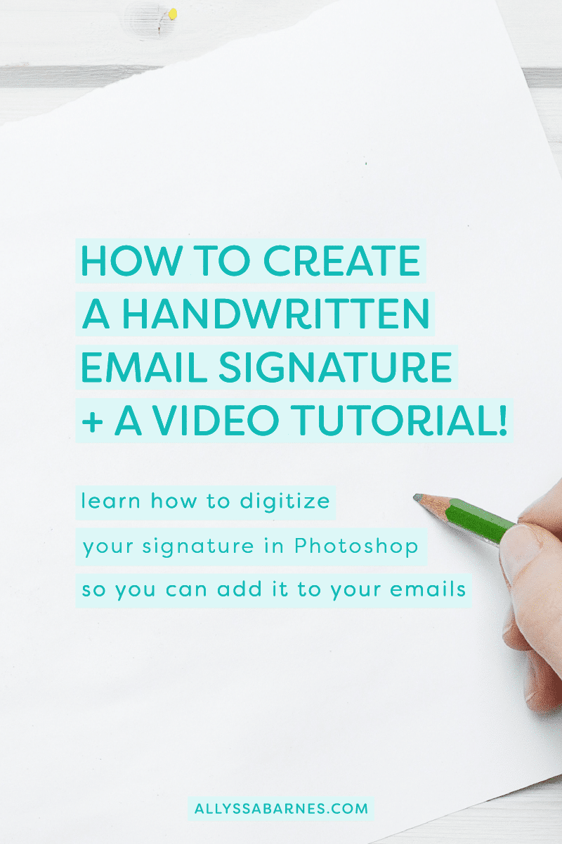 How to Create a Handwritten Email Signature