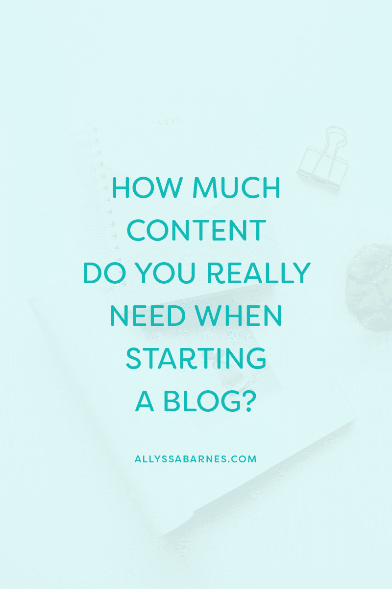 How Much Content Do You Really Need When Starting a Blog?
